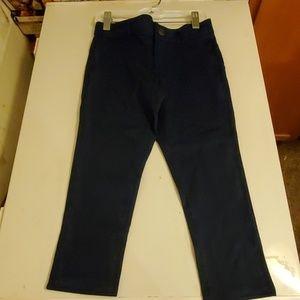 Girls Gymboree  navy uniform pant size 6 plus